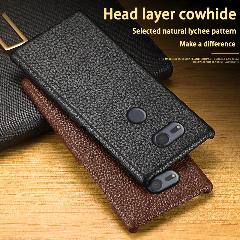 Leather Phone <font><b>Case</b></font> For <font><b>Sony</b></font> <font><b>Xperia</b></font> XA XA1 XA2 XA3 Ultra <font><b>Z2</b></font> Z3 Z4 Z5 XZ XZ1 XZ2 Premium XZ3 XZ4 X Mini 1 5 8 10 20 Litchi Texture image