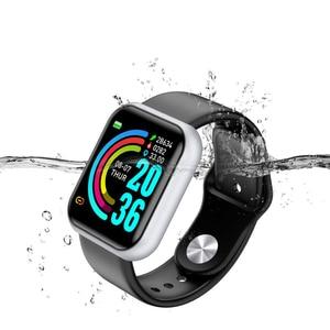 Image 2 - อัพเกรดใหม่ Y68กีฬา Smart Watch สร้อยข้อมือสมาร์ทความดันโลหิต Heart Rate Monitor สำหรับ Android IOS ผ่านมาตรฐานการจัดส่ง