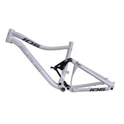 Estoque novo 26/27. 5er liga de alumínio mtb quadro total suspensão traseira montanha choque absorver 15.5/17 Polegada downhill quadro bicicleta