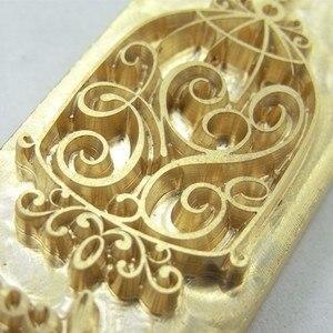 Ouro de carimbo quente de couro com molde de cobre molde de cobre-formado design personalizado clichê personalizzati