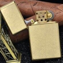 XGQ 2 цвета Зорро латунь 115 г 5,8*3,4 см керосин 538 бронированная зажигалка