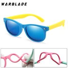 WarBLade детские солнцезащитные очки, Детские поляризованные линзы, очки для девочек и мальчиков, силиконовые детские зеркальные очки, подарок для ребенка, защитные очки UV400