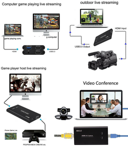 Image 5 - Rullz מקורי USB3.0 HDMI 4K 60Hz וידאו כרטיס לכידת HDMI כדי USB וידאו הקלטת תיבת משחק חיים הזרמה זרם שידור w מיקרופון