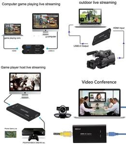 Image 5 - Rullz placa de captura de vídeo, original, usb3.0 hdmi 4k 60hz, hdmi para usb, gravação de vídeo, caixa de jogo, streaming ao vivo stream de transmissão w microfone