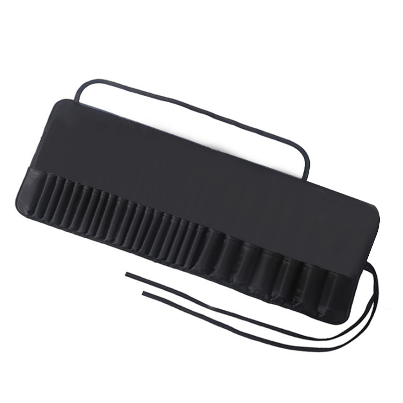 Makeup Brush Rolling Case Cosmetic Bag Pouch Holder Travel Portable Brushes Storage Organizer with Belt Strap