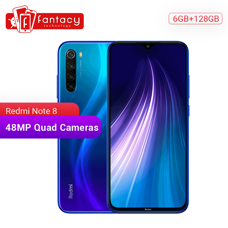"Global ROM Redmi Note 8 6GB 128GB 48MP Quad Camera Smartphone Snapdragon 665 Octa Core 6.3"" FHD Screen 4000mAh UFS 2.1 QC 3.0"