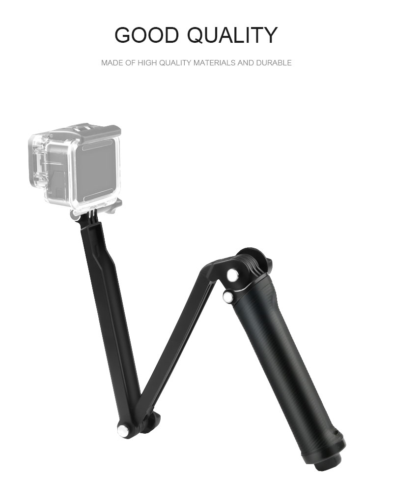 Gopro Accessories Tripod 3 Way Monopod Mount Extension Arm Tripod for Gopro Hero 6 5 4 3+ for xiaomi yi SJ4000 VP404 (1)