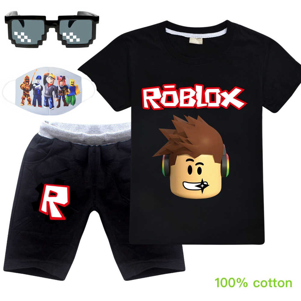 Roblox Summer Cotton T Shirt Short Pants 2020 Baby Boys Girls