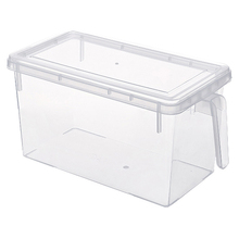 Kitchen Fridge Fresh Storage Box Refrigerator Plastic Crisper Container With Handle Food Fruit Vegetable Storage Cases kitchen stackable sealpot plastic containers box with buckle storage box for food cereal container fridge organizer storage