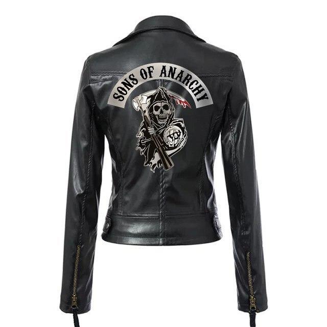 Fils de lanarchie femmes Steampunk veste Mayans MC manteau TV SOA Cosplay Costume femme motard veste à glissière Faux cuir Rock Punk