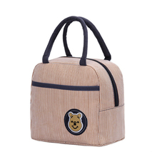 2019 New Lunch Bag Fashion Striped Shopping Canvas Mummy Handbag Female Simple Easy To Carry Portable Campus