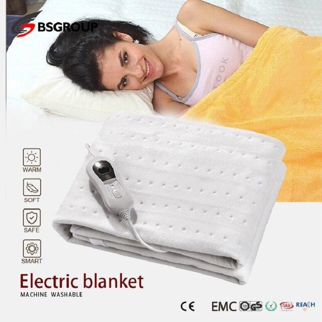 220V   240V 60W 150*80CM włóknina przenośny zmywalny elektryczny podgrzewacz termiczny podgrzewacz łóżko pojedyncze rozmiar 3 ciepła ue wtyczka