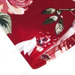 Image 4 - Nice robe florale élégante, avec manches à volants, ligne a daffaires, évasé pour femmes, A193, printemps