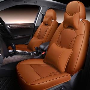 (Спереди + сзади) Чехлы для автомобильных сидений из воловьей кожи для авто geely все модели emgrand EC715 EC718 EC7 EC8 автомобильные аксессуары для стайл...