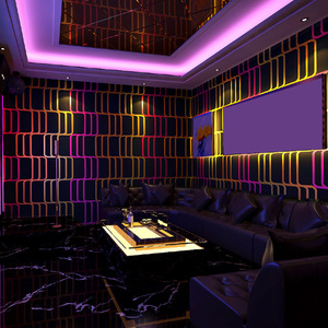 3D вспышка Геометрическая Алмазная наклейка на стену для караоке бара отеля Необычные Бальные коробки тема комнаты обои