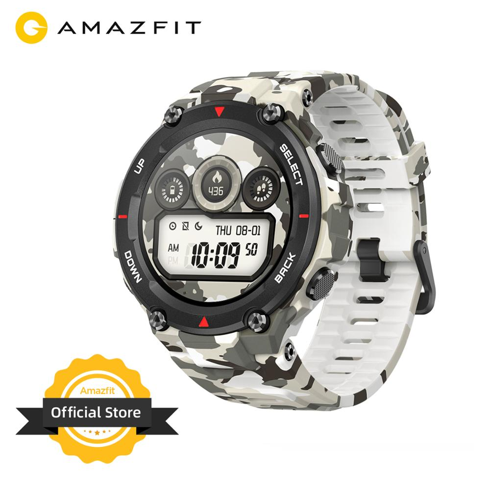 New 2020 CES Global Version Amazfit T-rex T Rex Smartwatch Rugged Body Smart Watch GPS/GLONASS 20 Days Battery For Android Phone