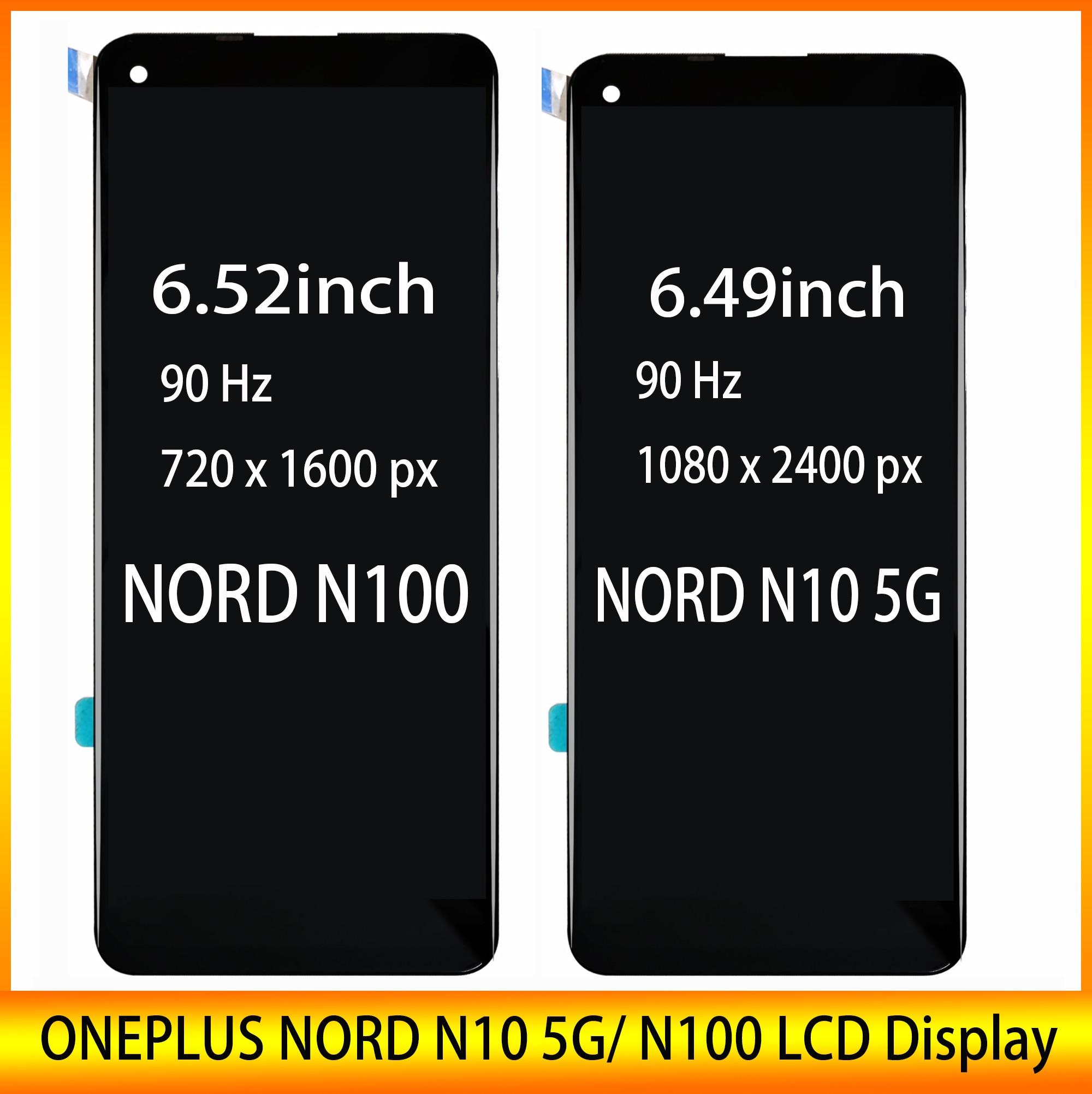 Новый 6,52 дюймов ЖК-дисплей для ONEPLUS NORD N10 5G / NORD N100 ЖК-дисплей Дисплей с кодирующий преобразователь сенсорного экрана в сборе 100% cовершенная ре...