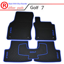 цена на Special Waterproof Carpets Durable Rubber Car Floor Mats for RHD Volkswagen Golf 6 7 GTI Right Hand Drive with GOLF GTI Logo
