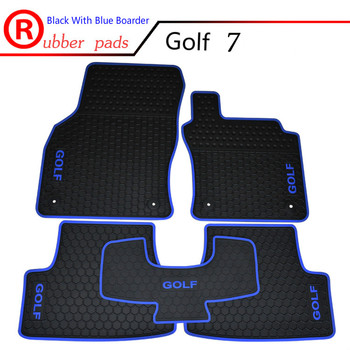 Special Waterproof Carpets Durable Rubber Car Floor Mats for RHD Volkswagen Golf 6 7 GTI Right Hand Drive with GOLF GTI Logo