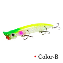 1pcs/The New  Fishing bait 13g/11cm artificial plastic 3D eyes sink bass fishing Rotator Bionic Sea accesso