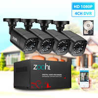 Zoohi AHD Outdoor CCTV Kamera System 1080P sicherheit Kamera DVR Kit CCTV wasserdicht home Video Surveillance System HDD P2P HDMI