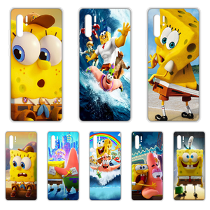 Cartoons sponge-bob Anime Patrick Phone Case cover For HUAWEI p 8 9 10 20 30 40 P pro Smart 2017 2019 Z lite transparent coque