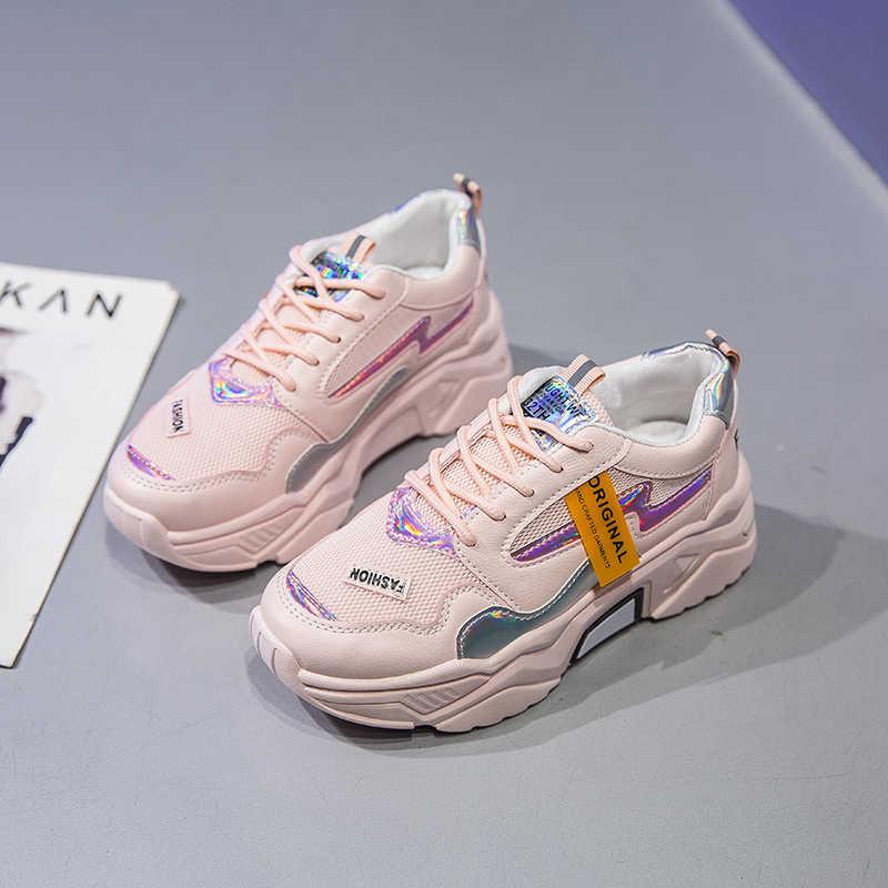 Leishen 2020 Nữ Giày Nữ Mới Giày Sneakers Thời Trang Camfortable Nữ Vulcanize Giày Phẳng Nền Tảng Giày Femme Krasovki