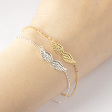 Stainless Steel Angel Wings Bracelets For Women Gothic Punk Vintage Bracelet BFF Pulseras Mujer Charm Chain Jewelry Accessories