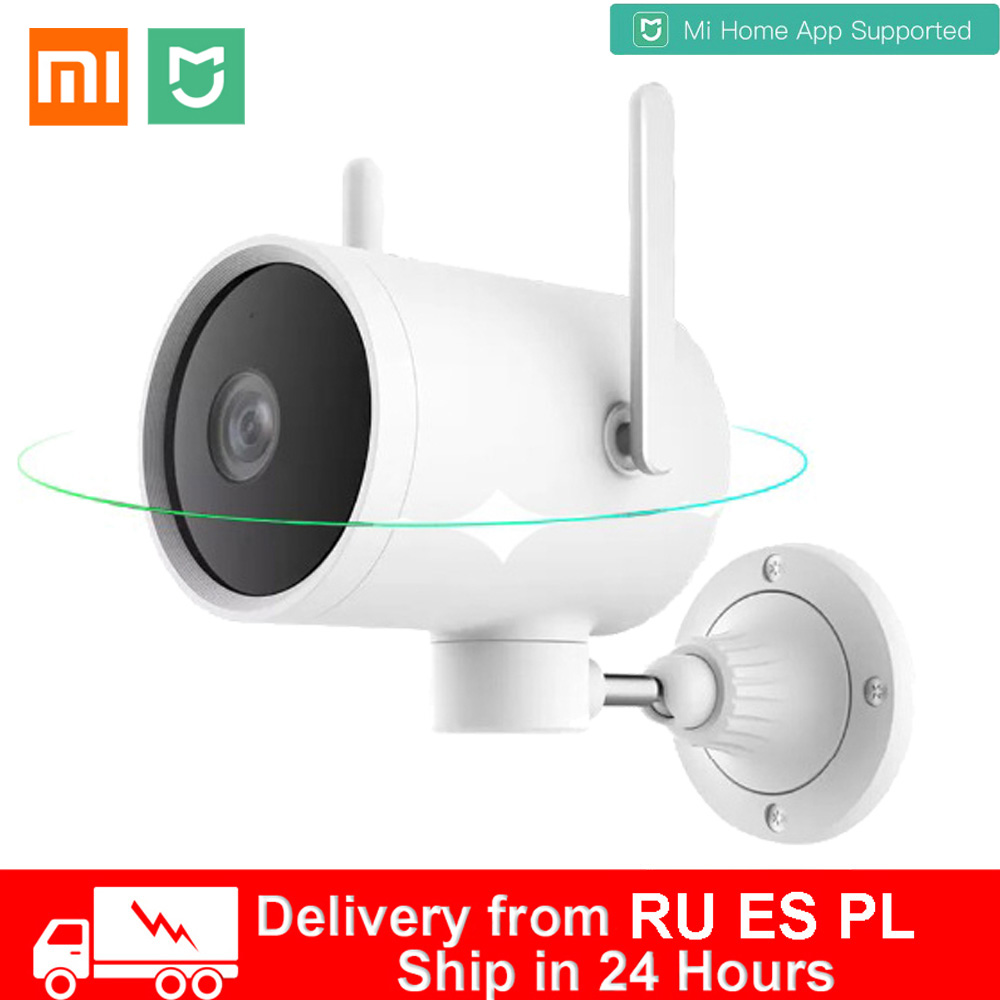 Xiaomi Smart Outdoor Camera Waterproof AI Humanoid Detection Webcam 270° 1080P WIFI H.265 Night Vision Voice Call Alarm IP Cam