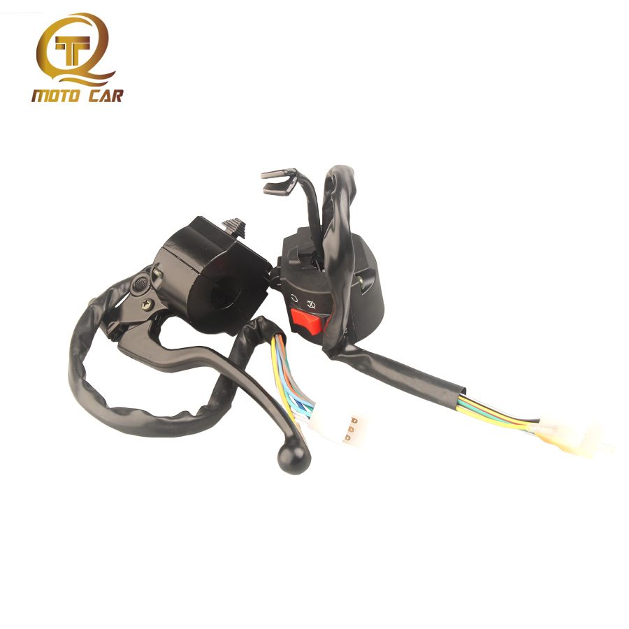 Motorcycle Aluminum Handlebar Hand Combination Switch Turn Light Engine Start-up Left Right Seat for Motor Suzuki GS125 Gn125 image