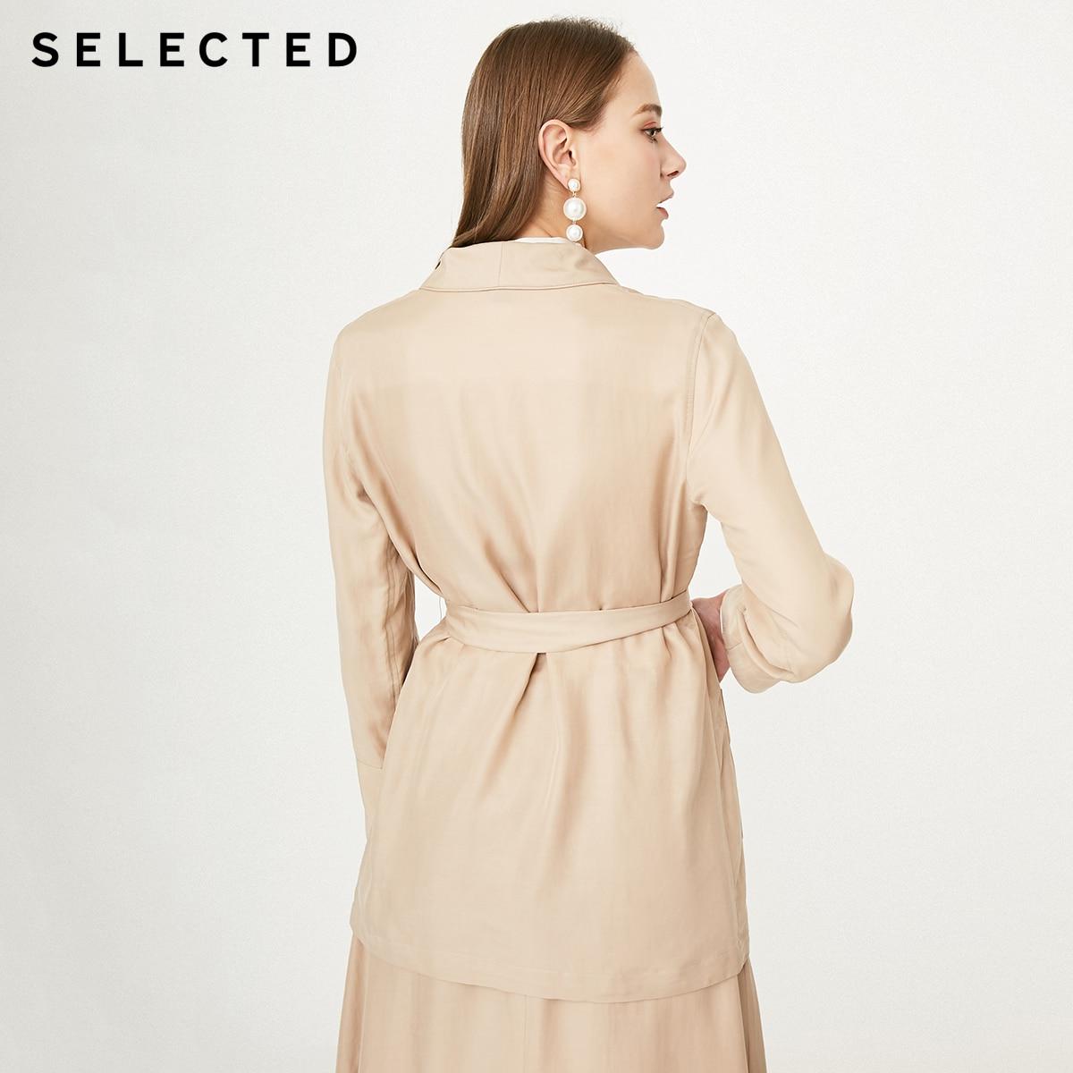 Las mujeres seleccionadas es Draped V-cuello Denim sueltos cintura Blazer S | 419208507 | - 3
