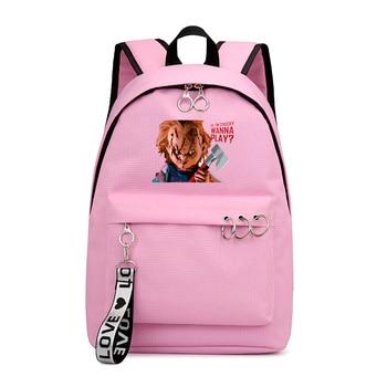 цена на Kid School Backpack for Girls School Bags Women Shoulder Bag Chucky Backpacks for Teenage Girl Schoolbag Travel Bag Dropshipping