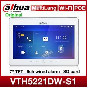 Intercom Dahua Wifi Indoor Monitor VTH5221DW-S1 Talk Sd-Card Video-Portero Multilingual