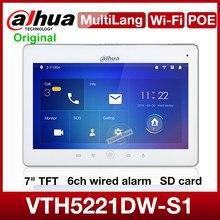 Dahua multilingue original VTH5221DW-S1 wi fi indoor monitor de vídeo portero intercom cartão sd poe conversa bidirecional sem fio da porta