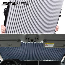 Автомобильная шторка на лобовое стекло, выдвижной набор, Складной автомобильный солнцезащитный чехол, отражающая пленка, занавеска s, анти-...