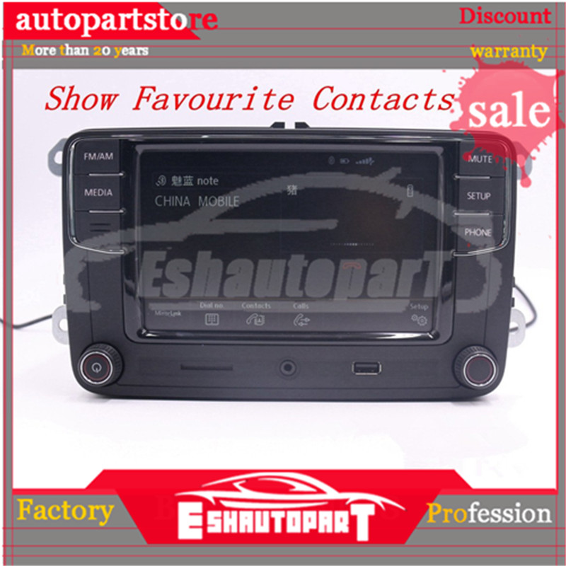 Android Auto Carplay Mirror link <font><b>RCD330</b></font> R340G Plus <font><b>Noname</b></font> Radio Red back light 187B For PQ35 Platform Seat Leon Toledo Altea image