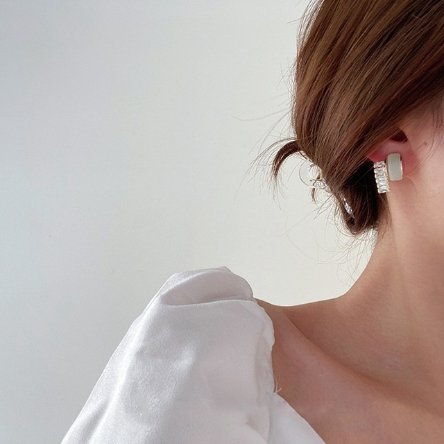 MENGJIQIAO 2020 Korean Micro Pave Zircon Hoop Earrings For Women Elegant Circle Boucle D'oreille Oorbellen Sweet Jewelry 4