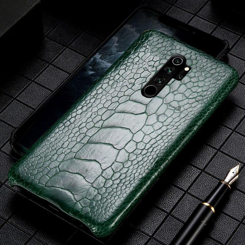Genuine Leather Ostrich feet phone case For Xiaomi Redmi Note 8 8T 8pro 7 7A mi 9 mi 8 Mix 3 Pocophone1 FLuxury Anti knock Cover