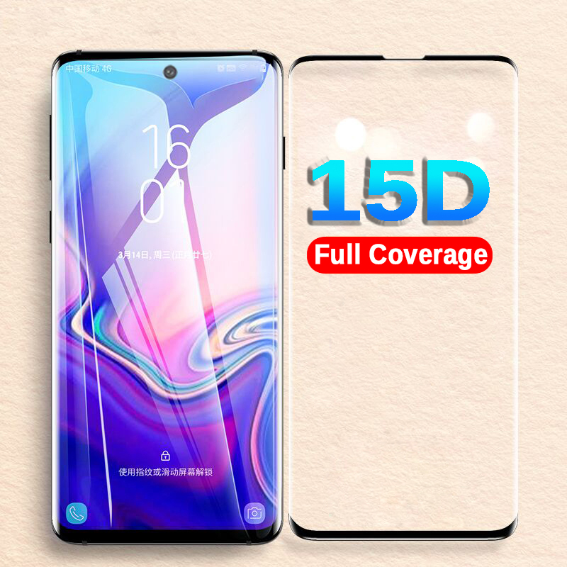 15D <font><b>Protective</b></font> Glass For <font><b>Samsung</b></font> Galaxy Note 10 10pro Tempered Glass For <font><b>Samsung</b></font> S10 5G S8 <font><b>S9</b></font> <font><b>Plus</b></font> S10e S7 <font><b>Screen</b></font> Protector Film image