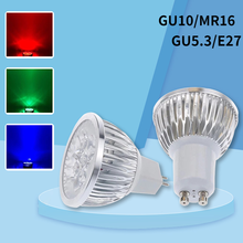 1Pcs/lot GU10 GU5.3 MR16 E27 LED lamp 220V 3W LED Spotlight Bulb Lamp red/blue/green/yellow/white led ceiling light