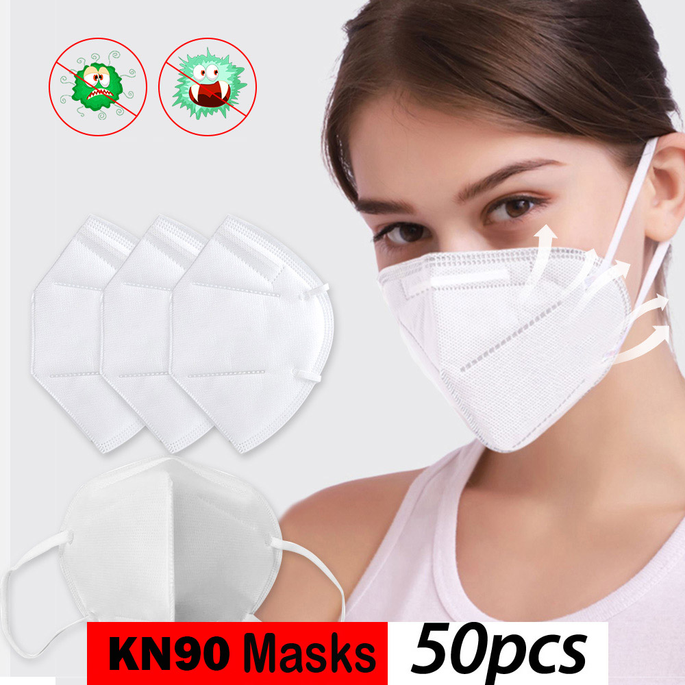 KN90 3-Ply Disposable Dustproof Face Mouth Masks Anti PM2.5 Anti Influenza Nonwoven Elastic Mouth Soft Breathable Face Mask
