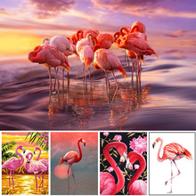 5D DIY Full Square/Round Diamond Painting Flamingo Cartoon Animal Embroidery Cross Stitch Kit Mosaic Home Decoration Handicraft