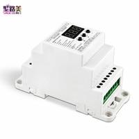 BC-833-DIN DC12V -24V 3CH Channels PWM Constant Voltage LED DMX512 Decoder 288W 576W 8A/CH For led strip light tape ribbon