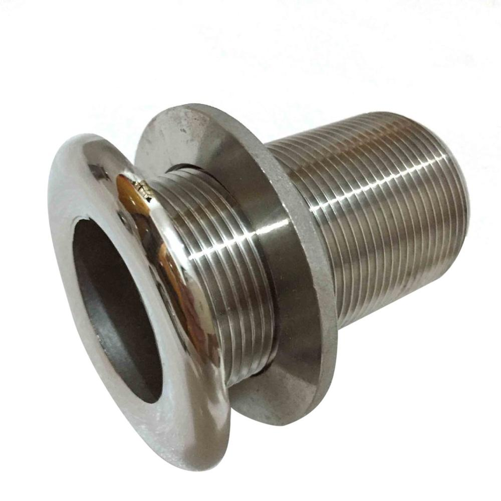 Marine Outlet Sewage Drain Vent Hole Sewage Pipe Bolt Stainless Steel 1 Inch Full Wire Hardware Fitting