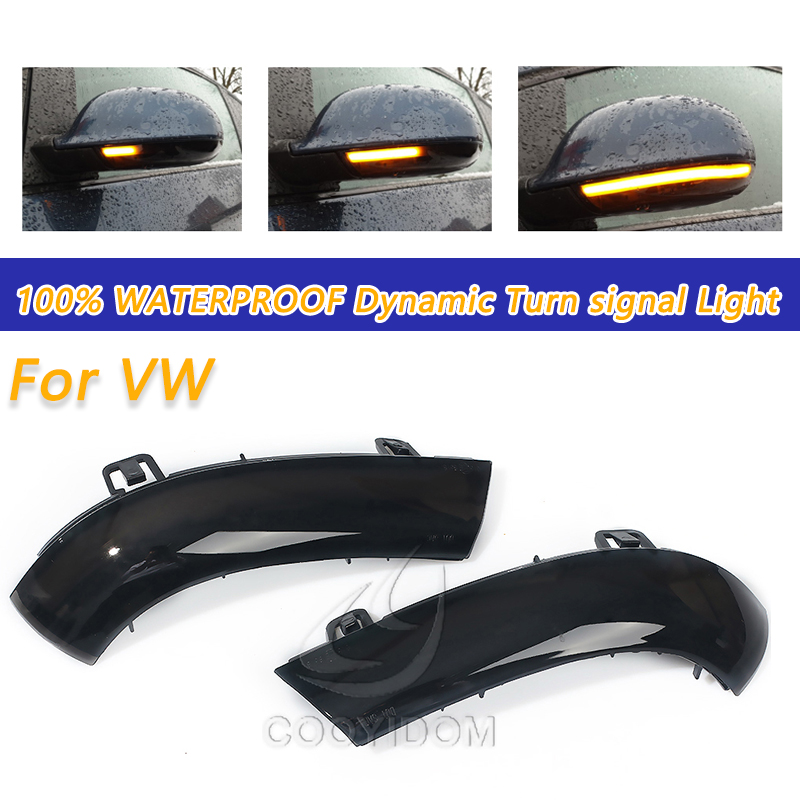 COOYIDOM Dynamic Turn Signal <font><b>LED</b></font> For <font><b>VW</b></font> <font><b>GOLF</b></font> 5 Jetta <font><b>MK5</b></font> Passat B5.5 B6 EOS Rearview Mirror Indicator Blinker Repeater <font><b>Light</b></font> image