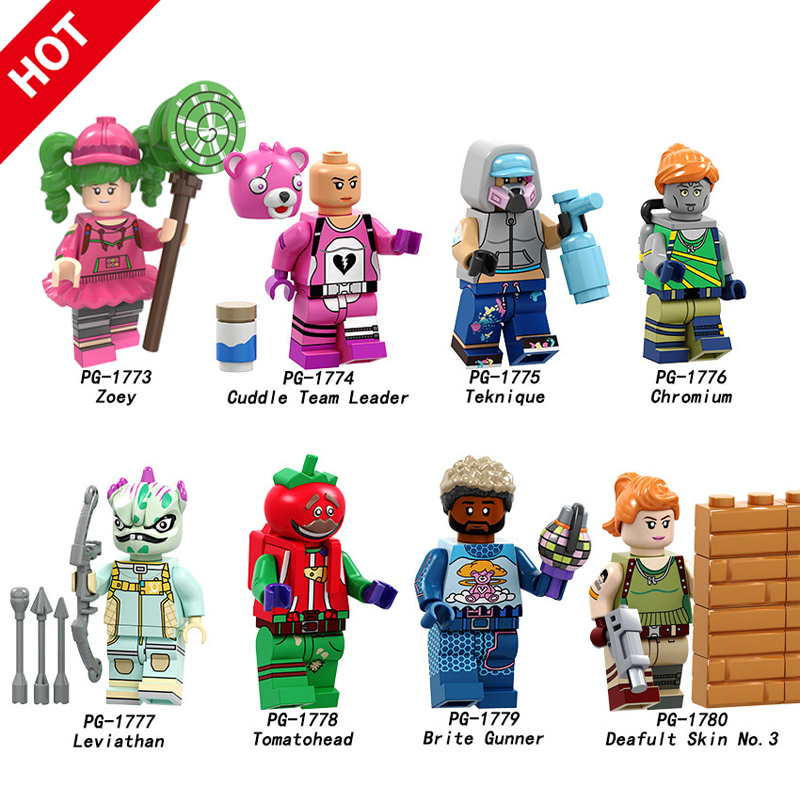 Battle Royale Action Figure Building Blocks Toys Popular Fortress Night Character Model Hot Shooting Game Diy Toy Birthday Gifts