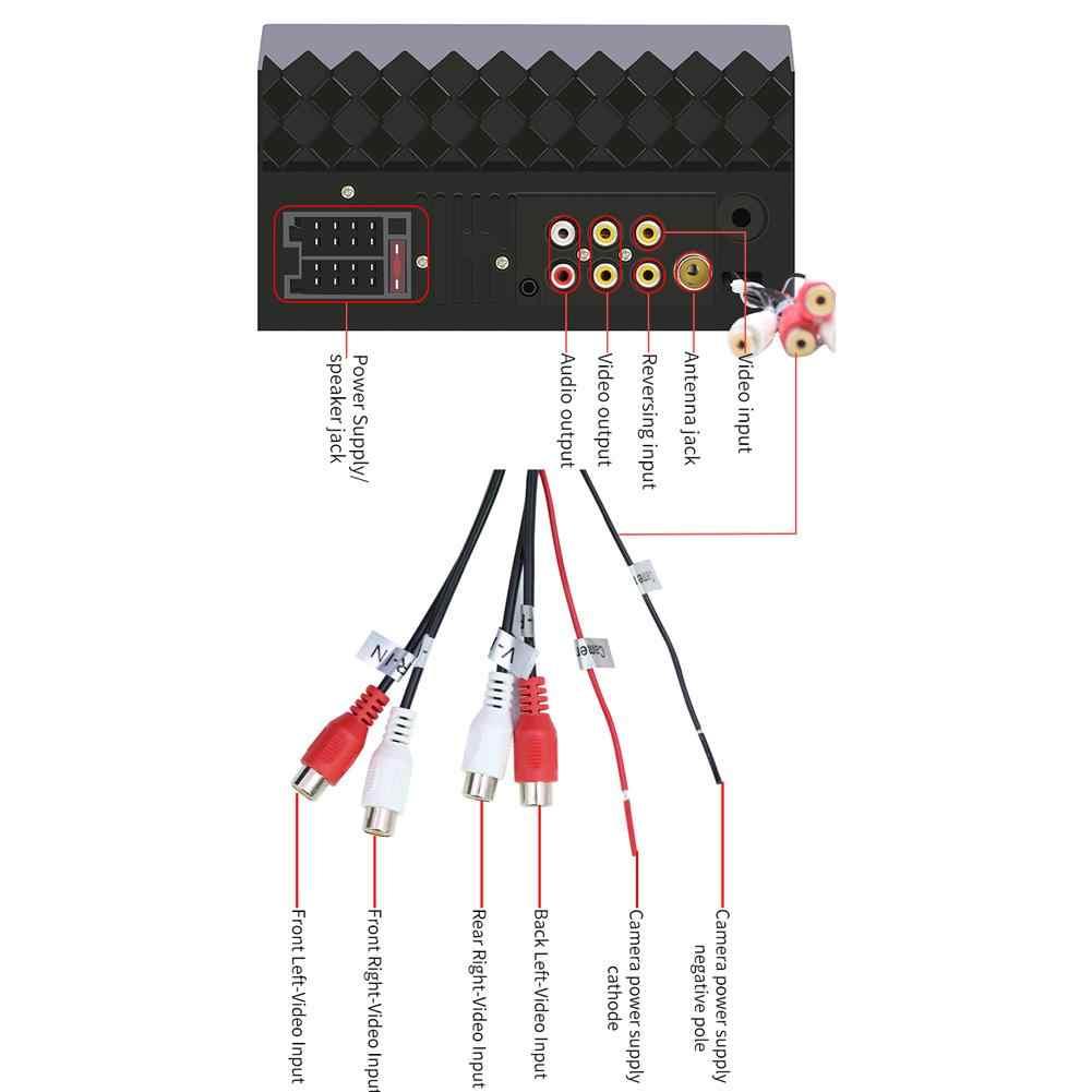 7 นิ้ว 2 Din รถ MP5 Touch Screen วิทยุสเตอริโอบลูทูธ USB/TF/AUX IN รองรับ 360 องศา Panoramic ภาพ MIRROR LINK