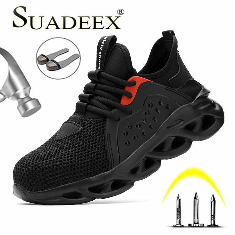 SUADEEX 2020 nuevo diseño Dropshipping hombres zapatos de punta de acero transpirable Anti Smashing zapatos de seguridad ligero botas de seguridad a prueba de pinchazos