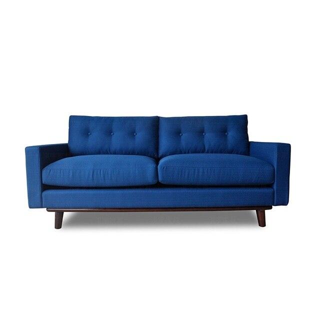 U-BEST Living Room 3 Seat Cinema Velvet Fabric Sofa Set 3