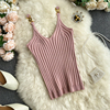 V-neck Halter Sexy Camisole Top 2020 Summer Women Sexy off-Shoulder Solid Color Sleeveless Camis Women's Clothing Tanks Tops 4